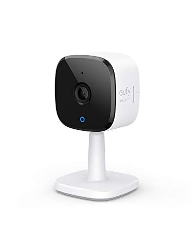 eufy Security Solo IndoorCam C24, 2K Security Indoor Camera, Plug-in Camera with Wi-Fi, IP Camera, Human & Pet AI, Voice Assistant Compatibility, Night Vision, Two-Way Audio, HomeBase not Compatible