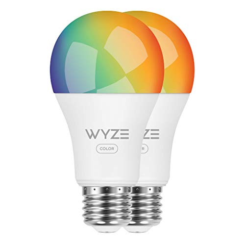 Wyze Labs WLPA19C2PK Smart Wyze Bulb, 2 Count(Pack of 1), Color