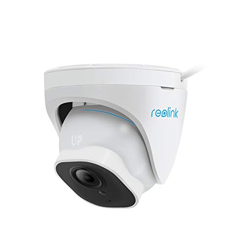 [2021 New] Reolink 5MP PoE Outdoor Security IP Camera, Upgraded Smart Human/Vehicle Detection, IP66 Weatherproof, Time-Lapse, 256GB Micro SD Storage for 24/7 Recording(not Included), RLC-520A