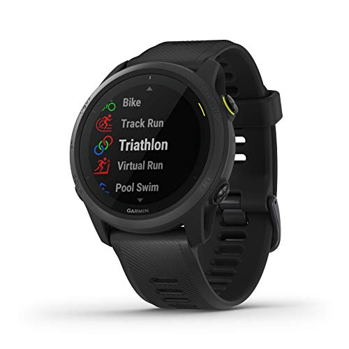 Garmin Forerunner 745, GPS Running Watch, Detailed Training Stats and On-Device Workouts, Essential Smartwatch Functions, Black
