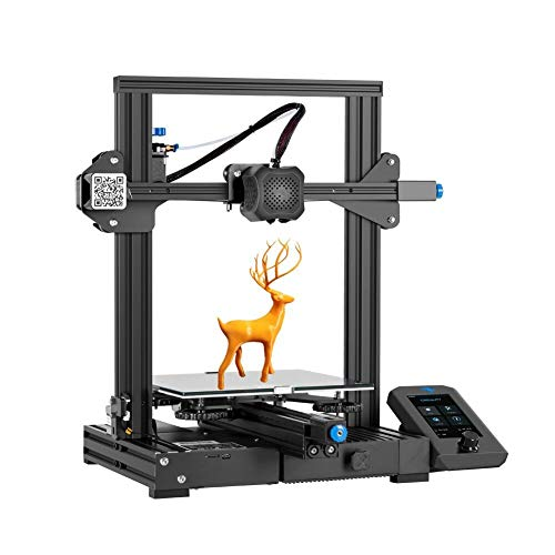 Official Creality Ender 3 V2 Upgraded 3D Printer Integrated Structure Designe with Carborundum Glass Platform Silent Motherboard and Branded Power Supply