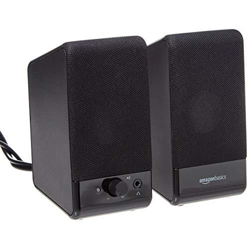 Amazon Basics Computer Speakers for Desktop or Laptop PC   USB-Powered, Black