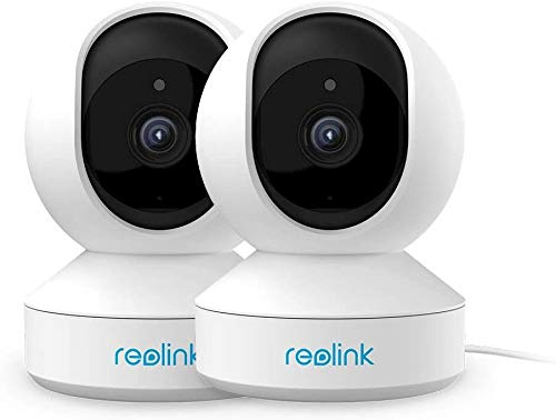 Cameras for Home Security, REOLINK 4MP HD Plug-in Security Camera Indoor Wireless, Dual-Band Nanny Cam/Pet Camera, Home Cameras with App for Phone, Motion Alert, Night Vision, E1 Pro(2 Pack)