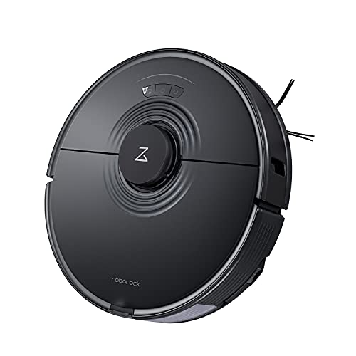 Roborock S7 Robot Vacuum and Mop with Sonic Mopping, Auto-Empty and Strong 2500PA Suction, Multi-Level Mapping, Plus App and Voice Control(Black)