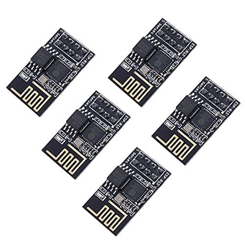 Teyleten Robot ESP8266 ESP-01S WiFi Serial Transceiver Module with 1MB Flash DIP-8 3-6V(Pack of 5PCS)