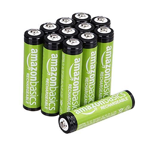 Amazon Basics 12-Pack AAA Rechargeable Batteries