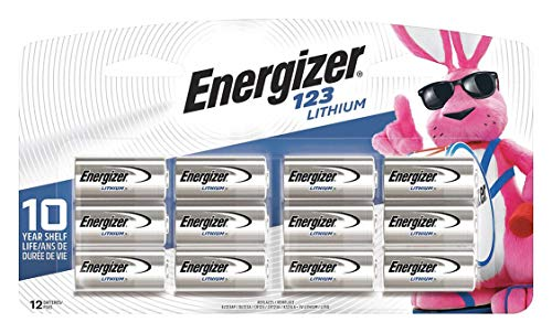 Energizer 123 lithium photo battery (12-pack)