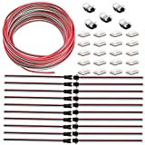 AWSOM 3Pin LED Strip Wire Kit 22AWG,10mm RGB LED Strip Connectors 3 Pin,3 Pin JST SM Male to Female Plug for WS2811,2812B Led Strip Lights