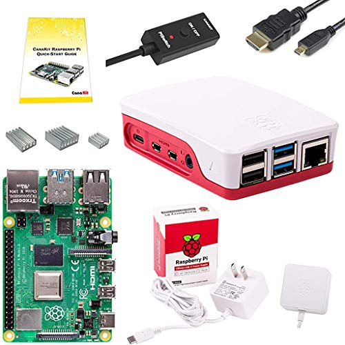 CanaKit Raspberry Pi 4 Basic Starter Kit with Official Case (1GB RAM)