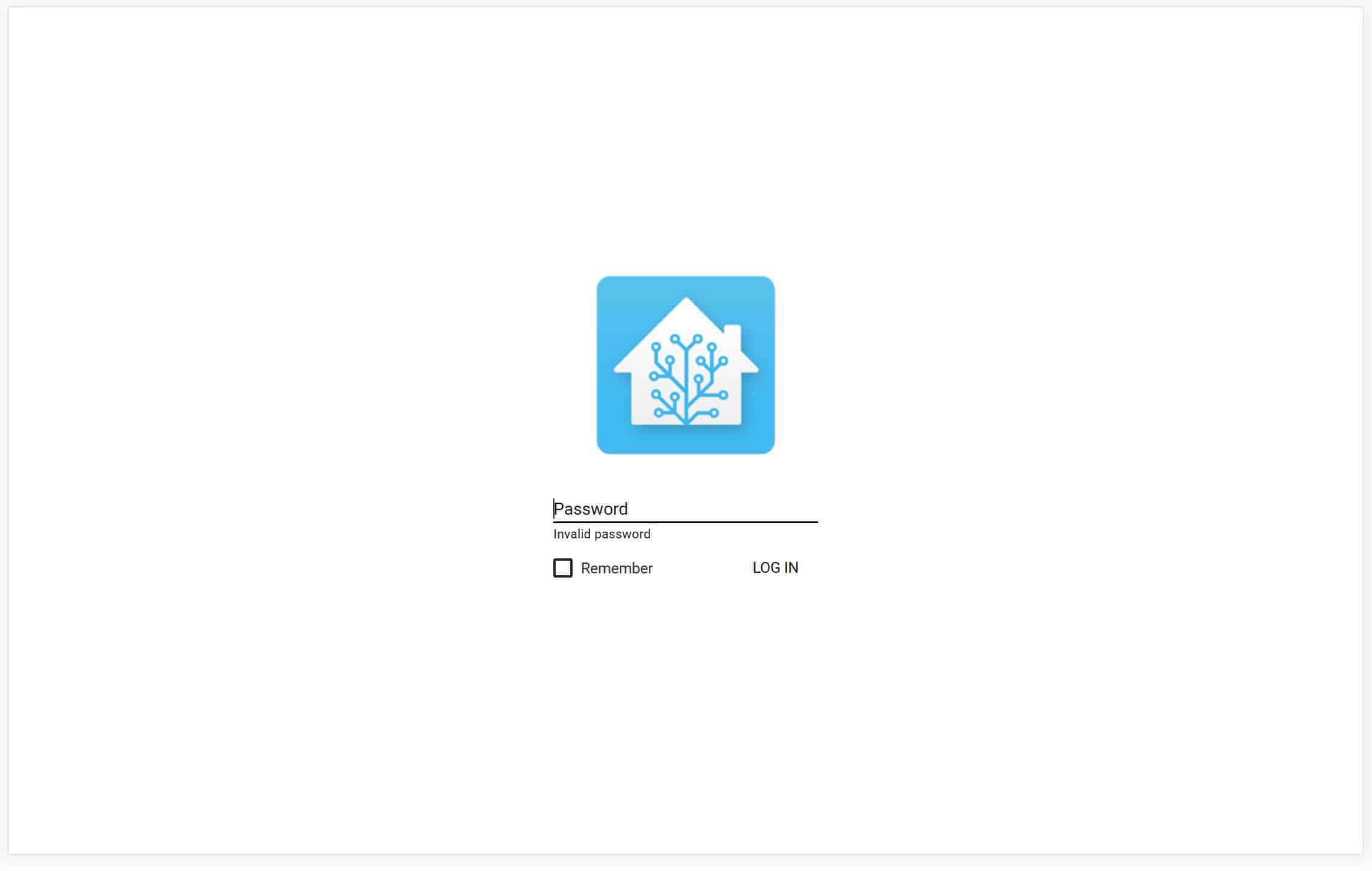A password protected Home Assistant