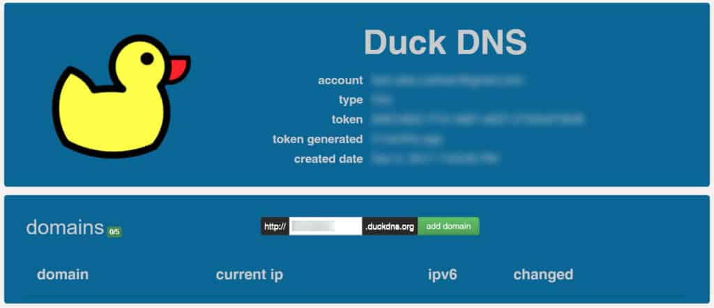 Setting up Duck DNS for Home Assistant