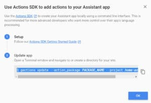 Setting up Actions on Google for Home Assistant