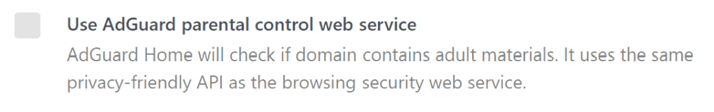 Parental controls in AdGuard Home