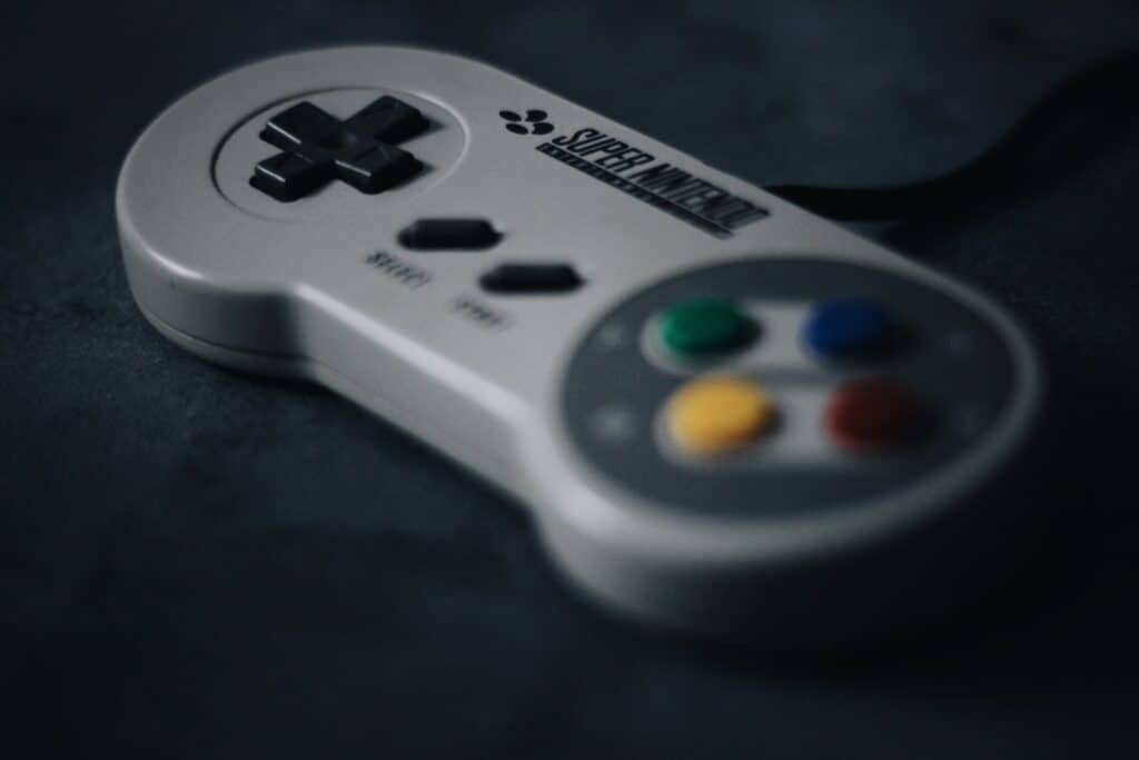 A video game controller has momentary switches