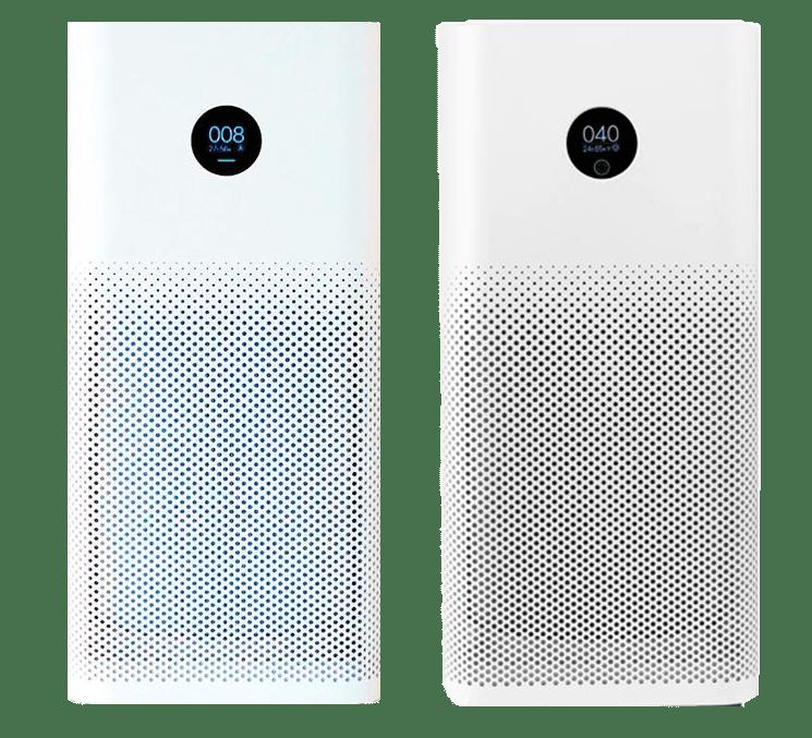 The Xiaomi Mi Air Purifier 2S compared to the Xiaomi Air Purifier 3(H).