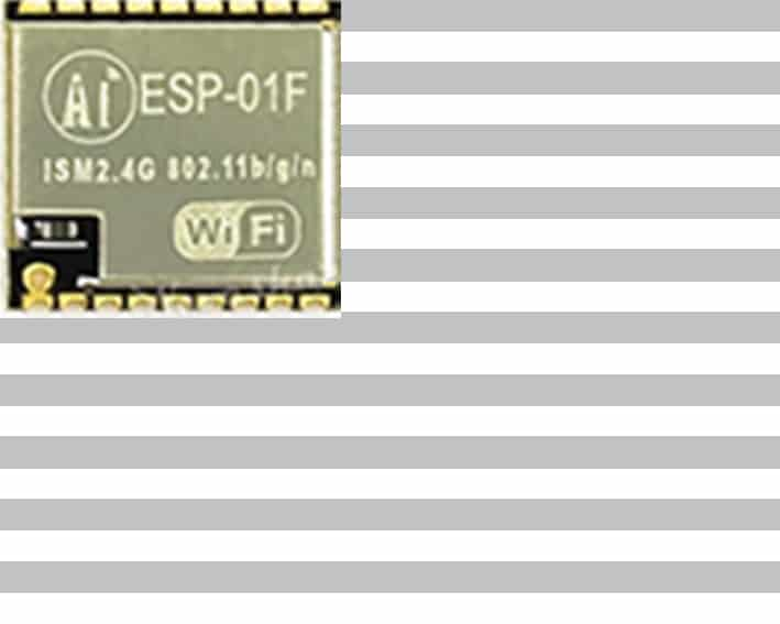 The ESP-01F module with an ESP8266 from Ai-Thinker
