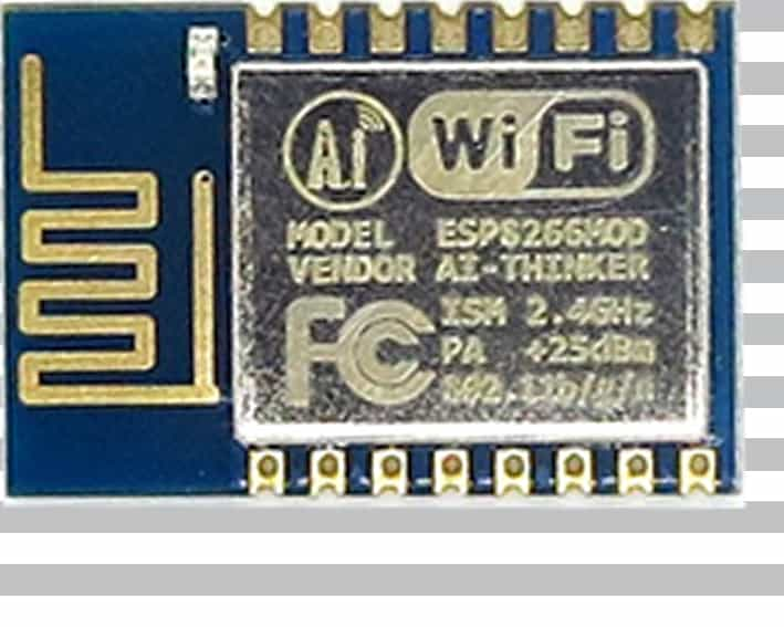 The ESP-12 module with an ESP8266 from Ai-Thinker
