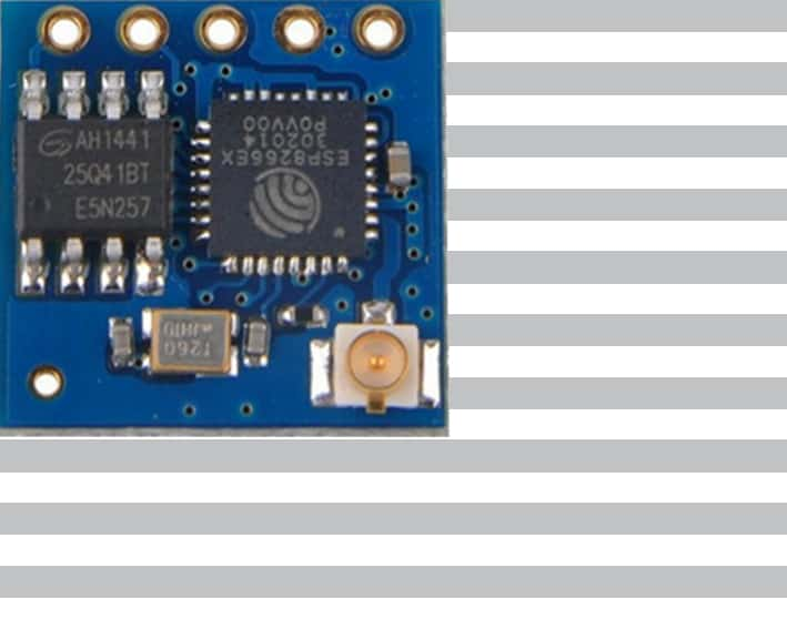 The ESP-05 module with an ESP8266 from Ai-Thinker