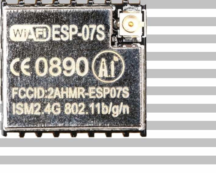 The ESP-07S module with an ESP8266 from Ai-Thinker