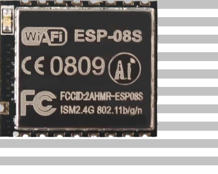 The ESP-08S module with an ESP8266 from Ai-Thinker