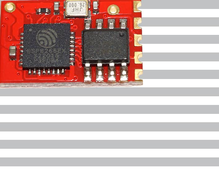 The ESP-10 module with an ESP8266 from Ai-Thinker