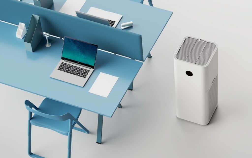 The Xiaomi Mi Air Purifier MAX in an office