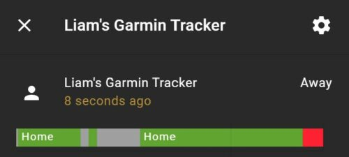 A Garmin sports watch connected to room-assistant, showing unreliable results