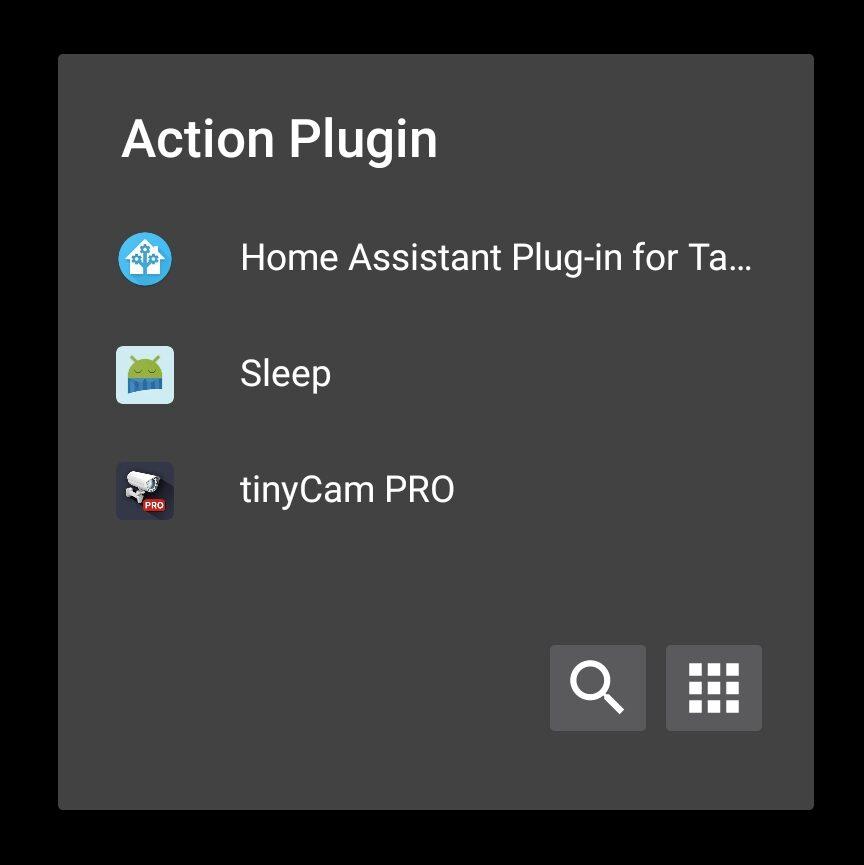 The Home Assistant Plug-In for Tasker being selected in the Tasker app