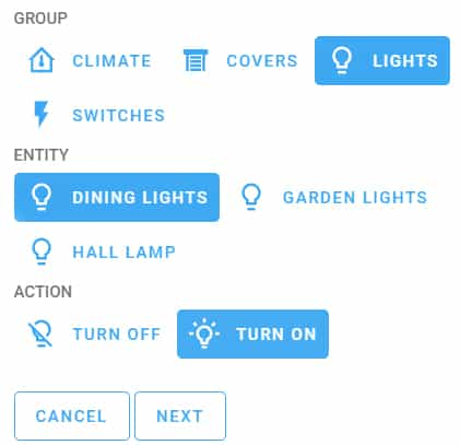 The Scheduler custom card for the Home Assistant Lovelace dashboard displaying how to set up a light