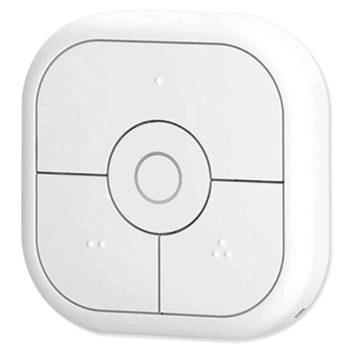 The Aeotec NanoMote Quad, a Z-Wave smart button that can be integrated with Home Assistant.