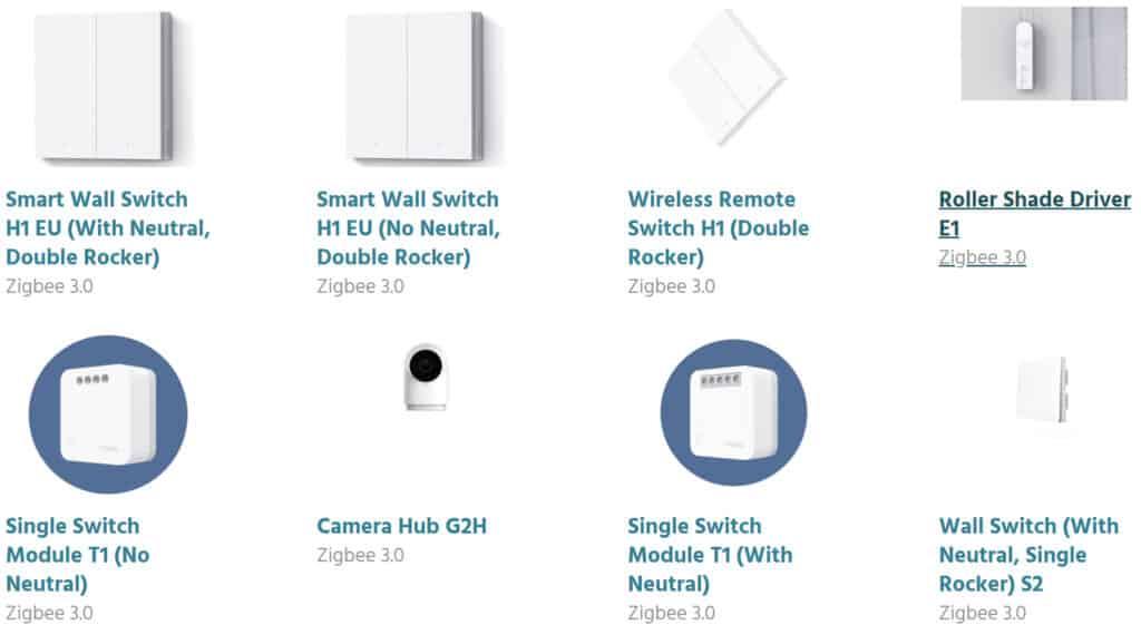 A list of Zigbee 3.0 certified Aqara devices.