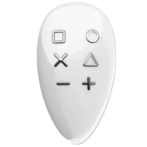 The FIBARO KeyFob Remote, a Z-Wave smart button that can be integrated with Home Assistant.
