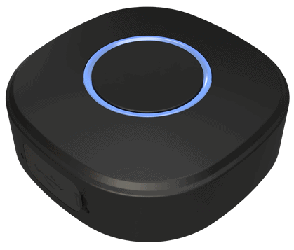 The Shelly Button1, a Wi-Fi smart button that is compatible with Home Assistant
