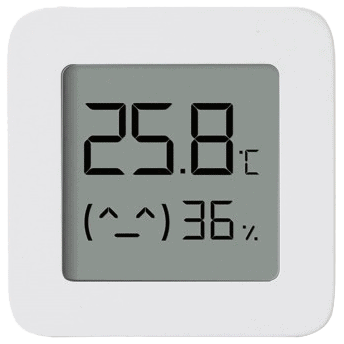The Xiaomi LYWSD03MMC Bluetooth thermometer and hygrometer that can be integrated with Home Assistant using ESPHome on an ESP32.